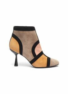 'Frame' suede patchwork ankle boots