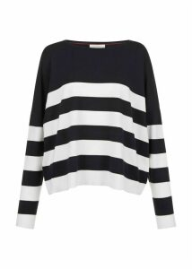 Phoebe Sweater Navy Ivory XL