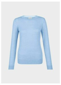 Penny Merino Wool Sweater Soft Blue M