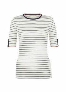 Lynne Sweater Ivory Navy XL
