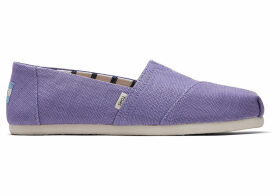 TOMS Dusky Purple Heritage Canvas Women's Classics Venice Collection Slip-On Shoes - Size UK7
