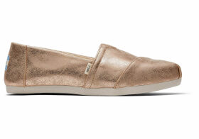 TOMS Brown Shimmer Synthetic Women's Classics Ft. ortholite Slip-On Shoes - Size UK7