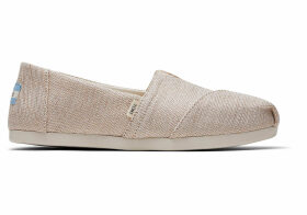 TOMS Tan Jute Women's Classics Ft. Ortholite Slip-On Shoes - Size UK4.5