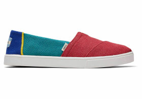 TOMS Heritage Canvas Women's Cupsole Classics Venice Collection Slip-On Shoes - Size UK7.5 in Multicolor