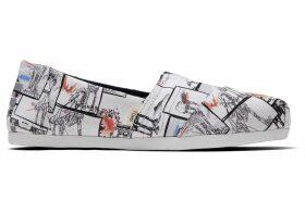 TOMS White Star Wars At-At™ Print Women's Classics Ft. Ortholite Slip-On Shoes - Size UK6.5
