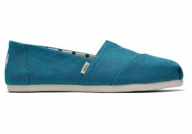 TOMS Harbor Blue Heritage Canvas Women's Classics Venice Collection Slip-On Shoes - Size UK3.5