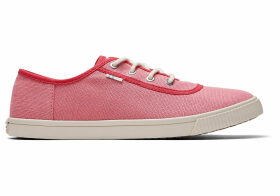 TOMS Strawberry Milkshake Heritage Canvas Women's Carmel Sneakers Topanga Collection Shoes - Size UK7.5