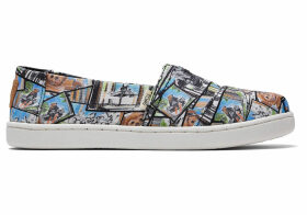 TOMS Multi Star Wars Ewok™ Print Youth Classics Slip-On Shoes - Size UK1