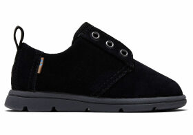 Black Suede Tiny TOMS Ivan Dress Casuals Shoes - Size UK4