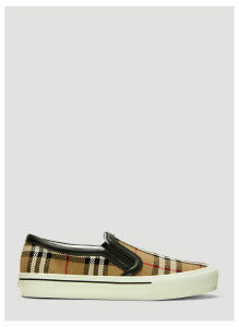 Burberry Vintage Check Woven Slip On Sneakers in Beige size EU - 40