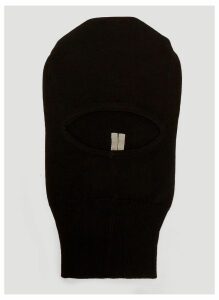 Rick Owens Knitted Balaclava in Black size One Size