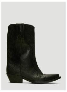 Saint Laurent Cowboy Boots in Black size EU - 40