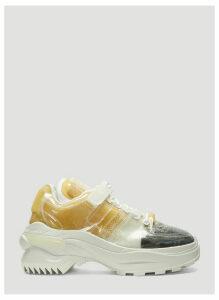 Maison Margiela Retro Fit Transparent Sneakers in White size EU - 41