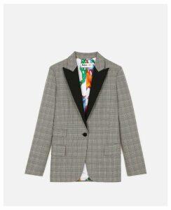 Stella McCartney Black Check Jacket, Women's, Size 8