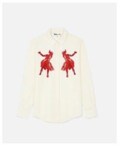 Stella McCartney White Rockley Shirt, Women's, Size 6