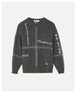 Stella McCartney GREY Embroidered Jumper, Women's, Size 10