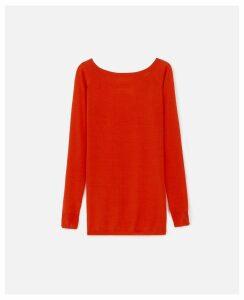 Stella McCartney Orange Knit Jumper, Women's, Size 10