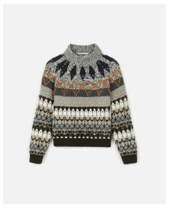 Stella McCartney MULTICOLOR Fair Isle Jumper, Women's, Size 12