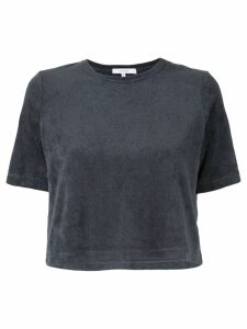 Venroy Terry Towel cropped T-Shirt - Blue