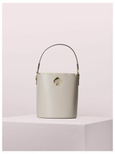 Suzy Scallop Small Bucket Bag - Warm Taupe - One Size