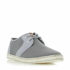 Dune Fenntons canvas lace up mesh shoes