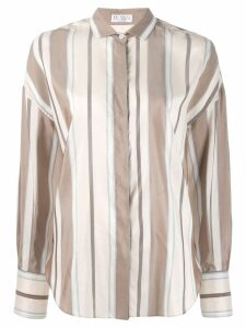Brunello Cucinelli striped print shirt - Neutrals