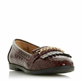 Dune Giles Chain Fringe Loafers