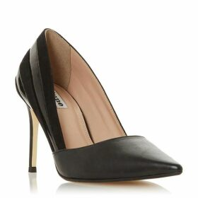 Dune Barrelle Panelled Mixed Material Court Shoes