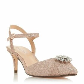 Dune Dominik Pointed Jewel Brooch Open Court Shoes