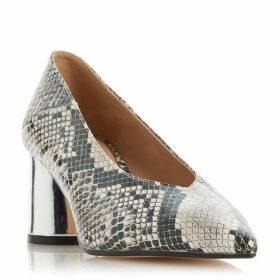 Dune Amyyy Block Heel Court Shoes