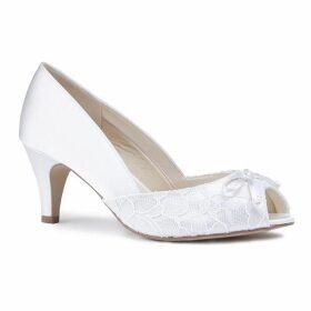 Paradox London Pink Dariela Wide Fit Mid Heel Peep Toe Shoes
