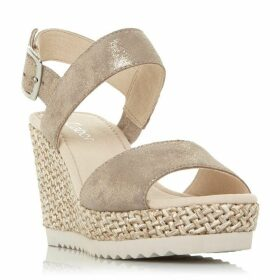 Gabor Wicket Metallic Wedge Sandals
