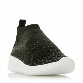 Dune Emerald Ombre Black Embellished Sock Trainers