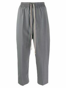 Rick Owens balloon-leg cropped trousers - Blue
