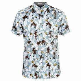 Ted Baker Glovers Monkey Print Shirt