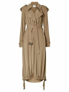 Burberry Jersey Wrap Coat - NEUTRALS