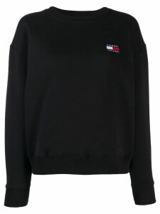 Tommy Jeans embroidered logo sweatshirt - Black