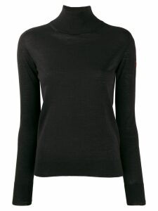 Ermanno Scervino embellished logo high-neck sweater - Black
