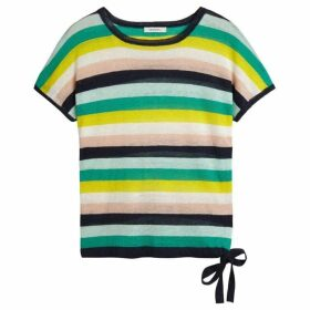 Sandwich Stripe Linen Knitted Top