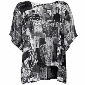 Oui Newspaper Knit T Shirt