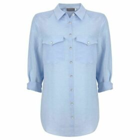Mint Velvet Sky Blue Patch Pocket Shirt