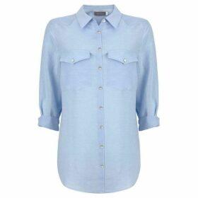 Mint Velvet Sky Blue Patch Pocket Shirt