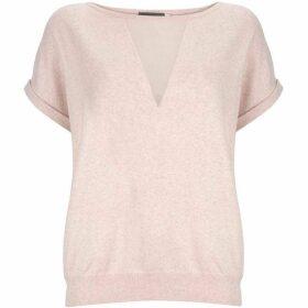 Mint Velvet Blossom Sheer Insert Knit Tee