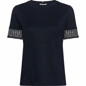 Tommy Hilfiger Elfie Lace Sleeve Top