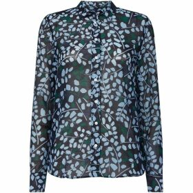 Gant Printed Long Sleeve Branch Blouse