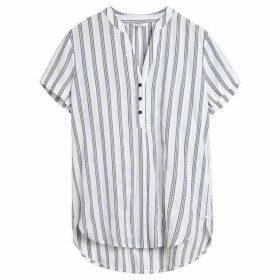 Sandwich Short Sleeve Stripe Blouse