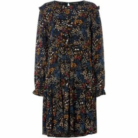 Label Lab Midnight ditsy floral print tie front blouse