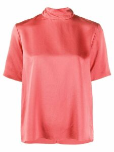 Forte Forte satin-crepe mock neck top - PINK
