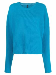 UNRAVEL PROJECT ribbed crew neck jumper - Blue
