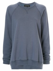 Lee Mathews Vince fleece raglan sweatshirt - Blue